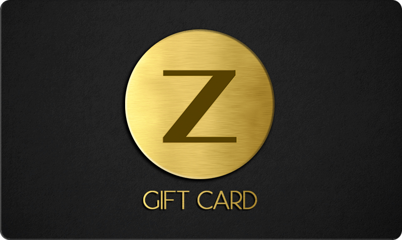 Standard Gift Card - minimal gold metallic logo on black