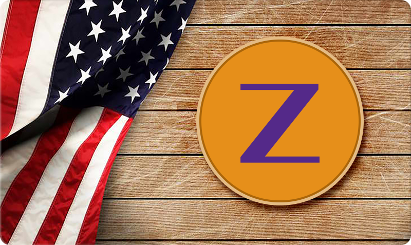 Patriotic Gift Card - wooden background, 3D Zoom Tan logo and American Flag